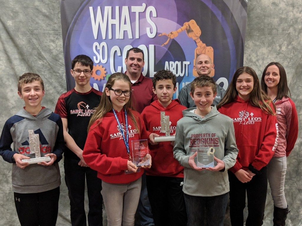 St. Leo School wins Outstanding Outreach Award in local video contest