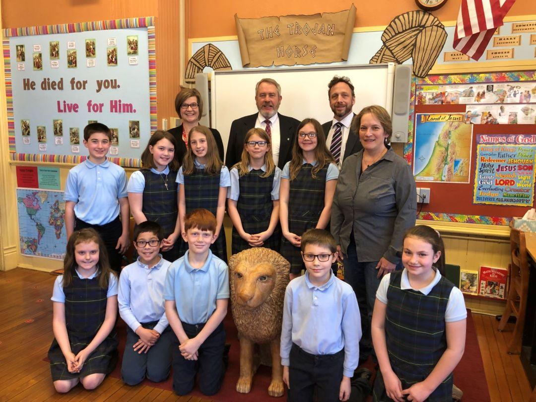 Northwest Savings Bank contributes to St. Leo School endowment