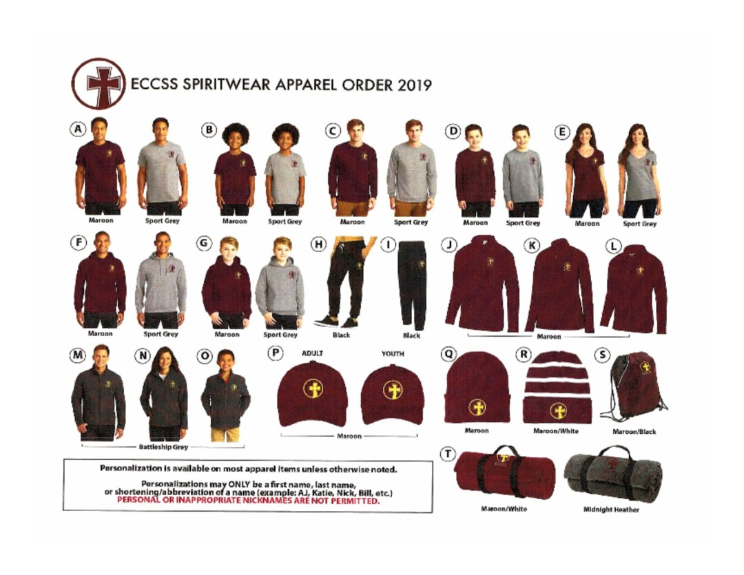 Order your ECCSS gear now!!