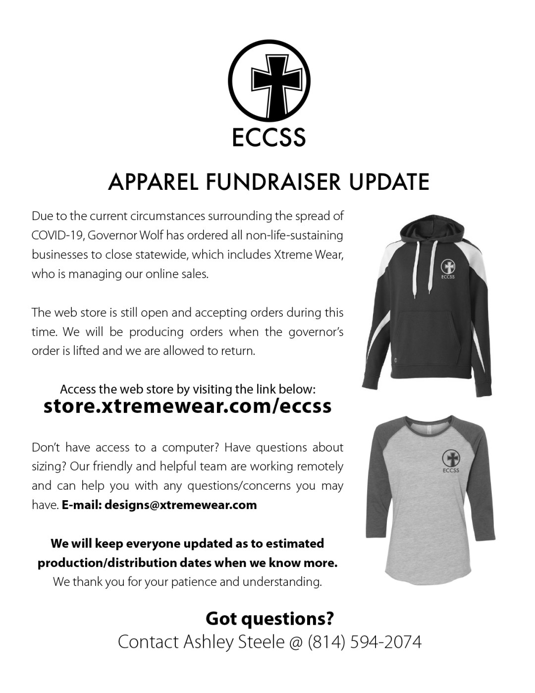 ECCSS PTO Clothing Order Update