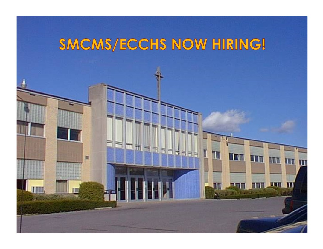 SMCMS & ECCHS Seeking Teaching Positions for the 2020/2021 School Year