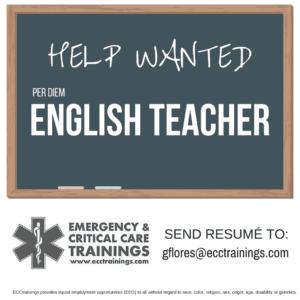 Help Wanted: English Teacher