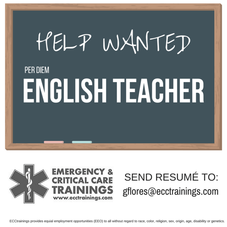 Help Wanted: English Teacher