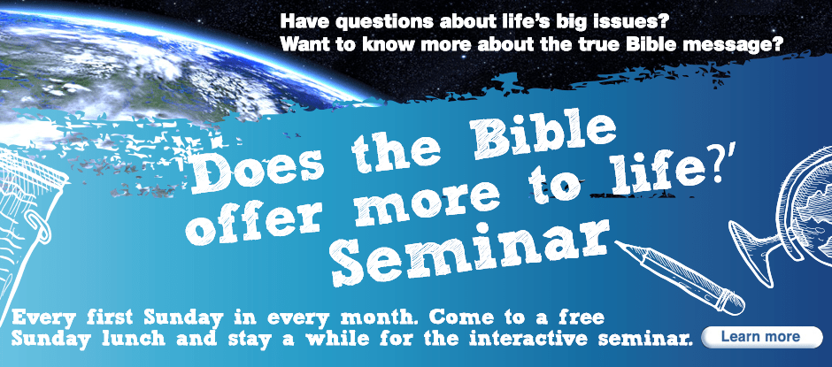 "Come to a free Sunday lunch and stay on a while for an interactive seminar asking the question ""Is there more to life?"""