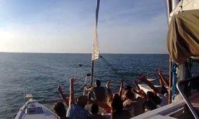 Mare e Gite in barca Rimini, escursioni in Catamarano Vela nella riviera romagnola.