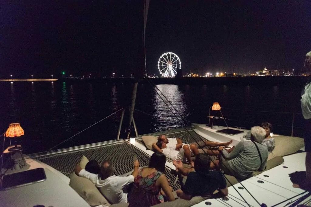 cena in barca rimini sotto le stelle east