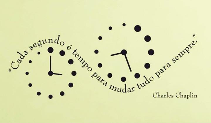 Citação de Charles Chaplin sobre a importância do tempo