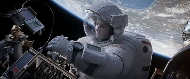 Astronaut Working in Space