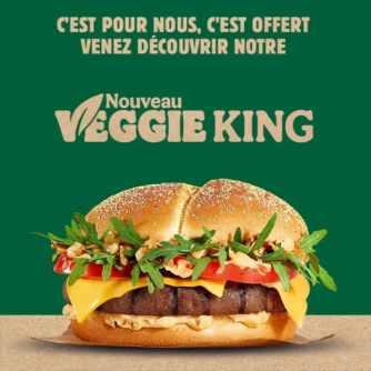 Burger King : 50'000 burgers Veggie King gratuits