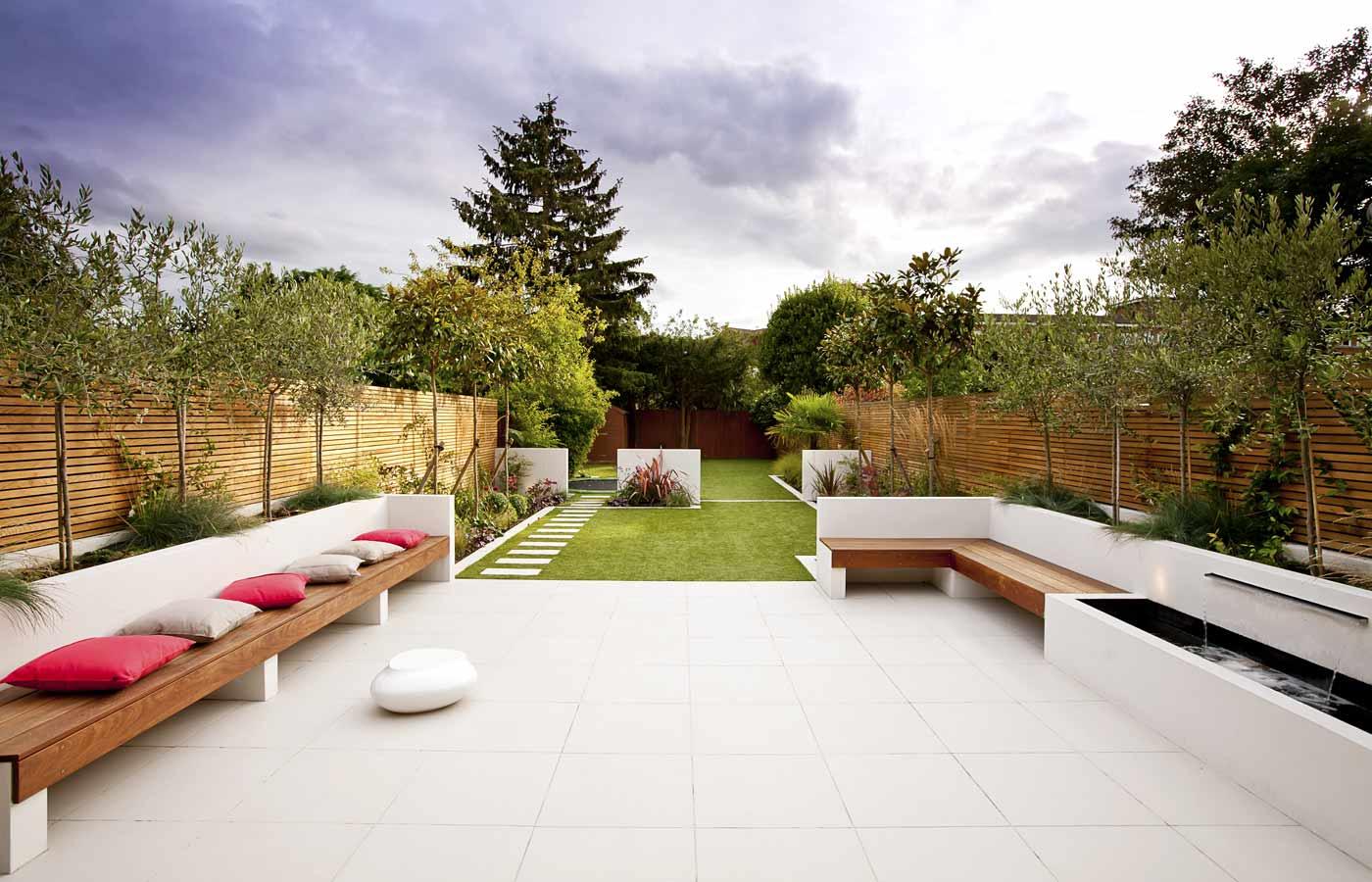 Long Thin Garden Design   Family Garden Design on Long Backyard Landscaping Ideas id=23297