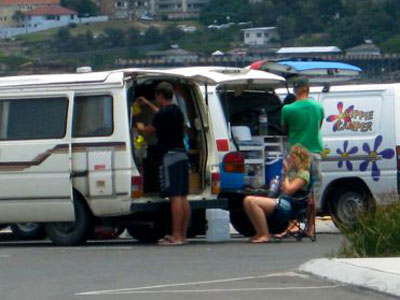 Byron Shire Council has committed to finding places for vanpackers to stay legally. Photo greynomads.com.au