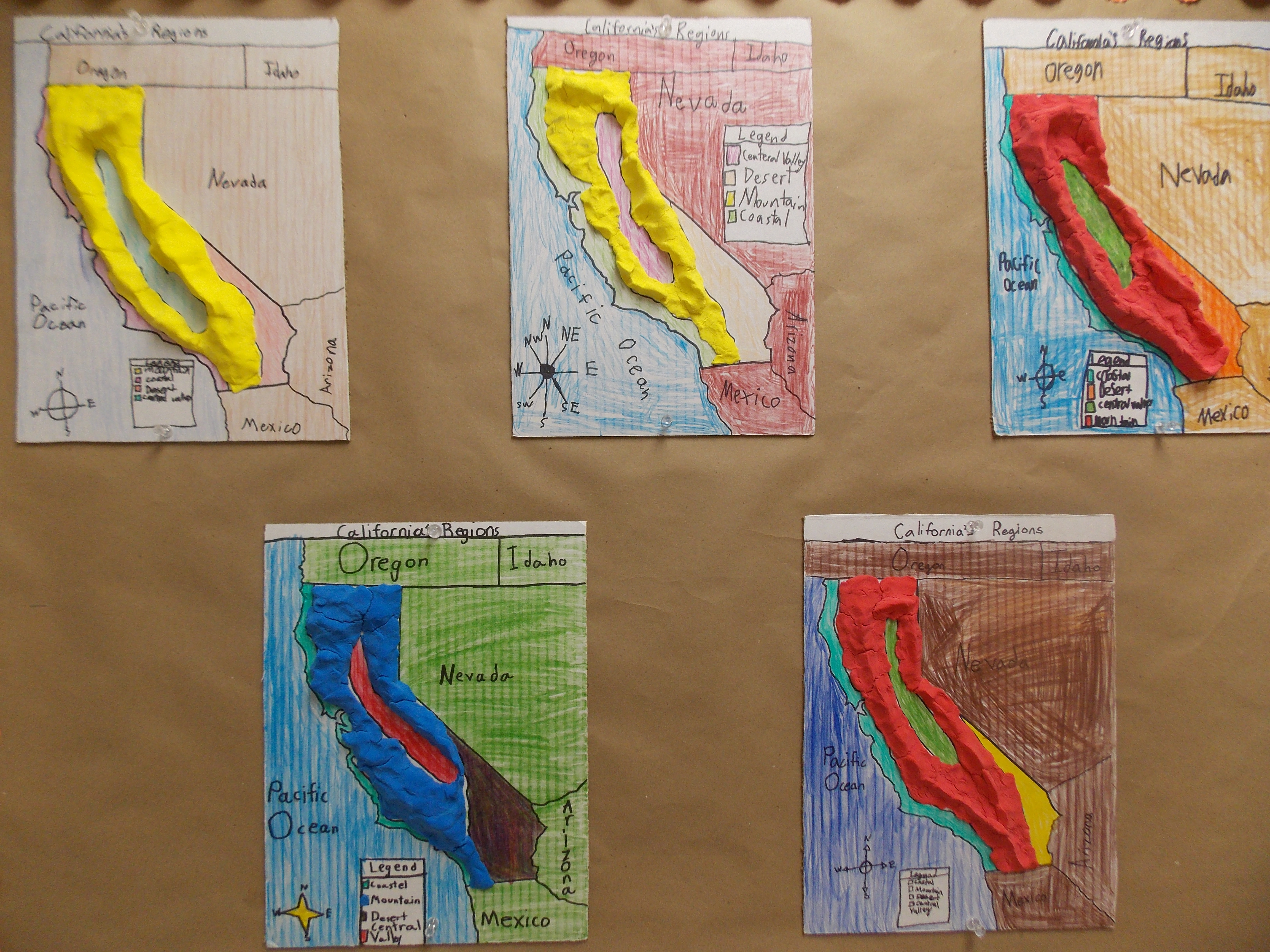 4th Grade Students Map Out California