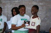 Youth Corp Member Provides Sanitary Pads in Bayelsa