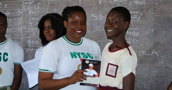 Youth Corp Member Provides Sanitary Pads in Bayelsa
