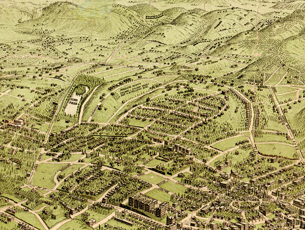 Zooming in on Echo Park  Early 1900s Los Angeles maps   Echo Park Now Birdseye
