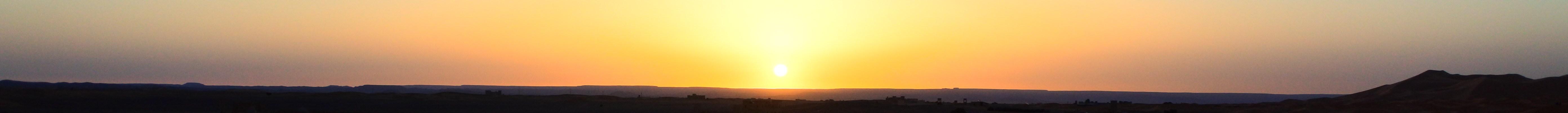 Zonsopgang woestijn marokko