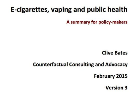 E Cigarettes, Vaping and public health