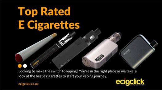 Best E Cigarettes and Vape Cigs for new users