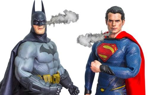 batman and superman vaping