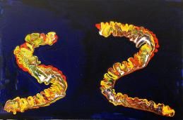 Abstract Painting, Worm Wars, Confront #2