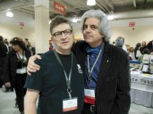 Richard Peabody and Michael Martone at AWP 2013, Boston