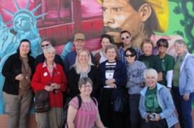 Norma Lujan with Border Group in El Paso