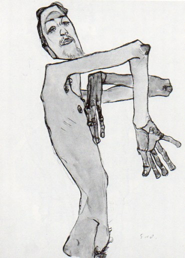 Self Portrait - Egon Schiele