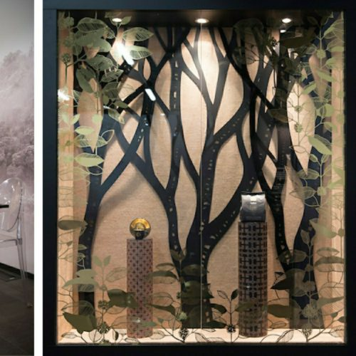 alberi in legno e plexiglass per lavazza