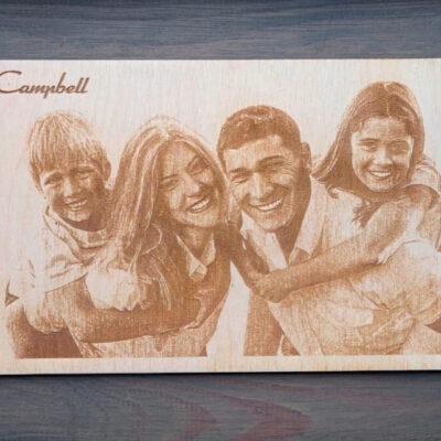 incisione foto su legno