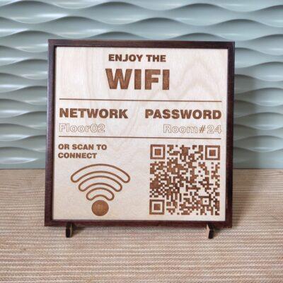 targhette in legno personalizzate informative