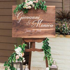 cartello di matrimonio