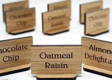 etichette in legno personalizzate