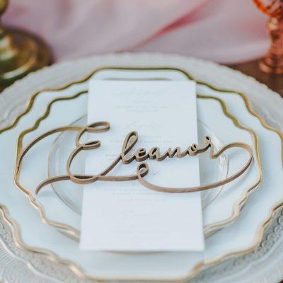 raffinato segnaposto matrimonio elegante