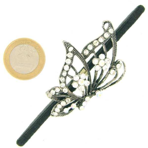 Elastique à cheveux bijou Grand Papillon