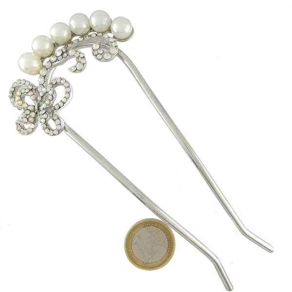 Epingle à chignon perles et strass Alicia