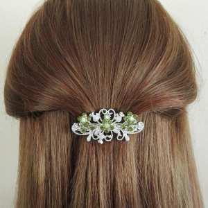 Petite barrette à cheveux argentée Daya