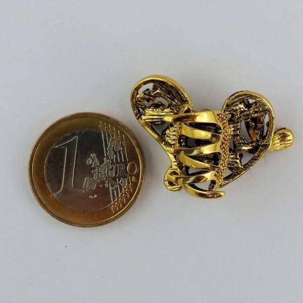 Petite pince crabe dorée Luti
