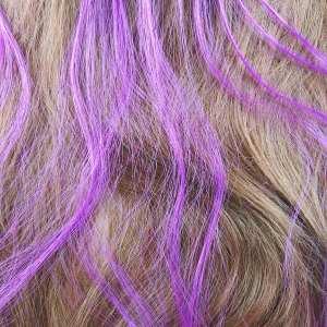 6 extensions mèche de cheveux – Violet