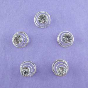 Ressorts Twister Strass Nuage lot 5 + 1 offert