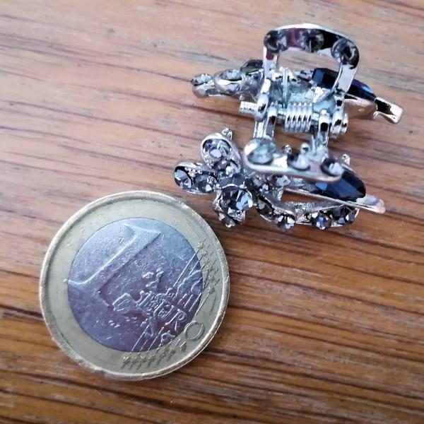 Petite Pince à Cheveux Crabe Argentée Lymali