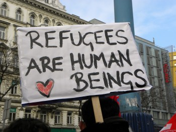 Refugee sign