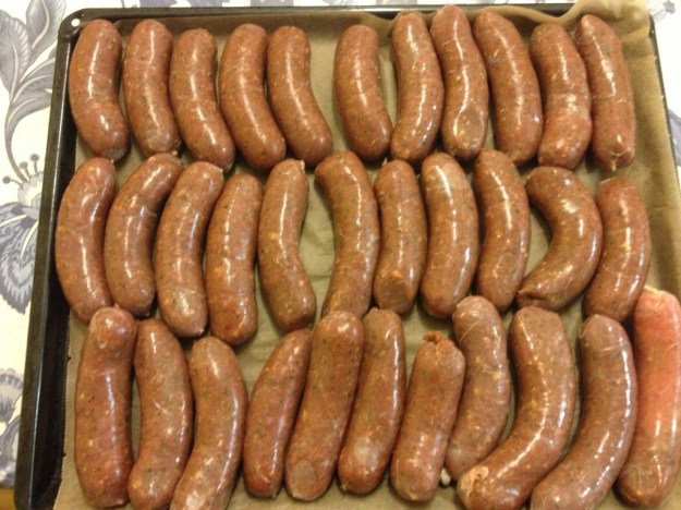 Hot Italian sausages