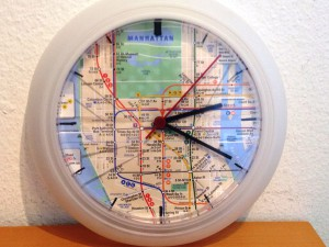 "My upcycle: the ""Rusch hour"" clock"