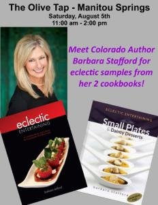 Cookbook Signing and Sampling in Manitou Springs @ The Olive Tap | Manitou Springs | Colorado | United States