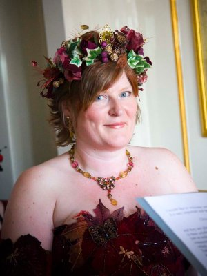 Eclectic wedding dress designer
