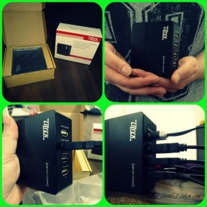 Review LizTek 4 Port USB Wall Charger EclecticEvelyn.com Get Yours at http://amzn.to/1Fo2D4n