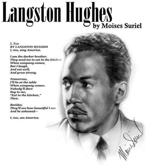 Langston Hughes I too am American EclecticEvelyn.com