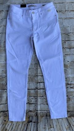 Mavi Adriana Ankle White Tribecca Jeans