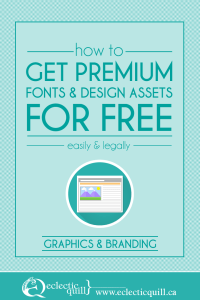 How to get free fonts pin