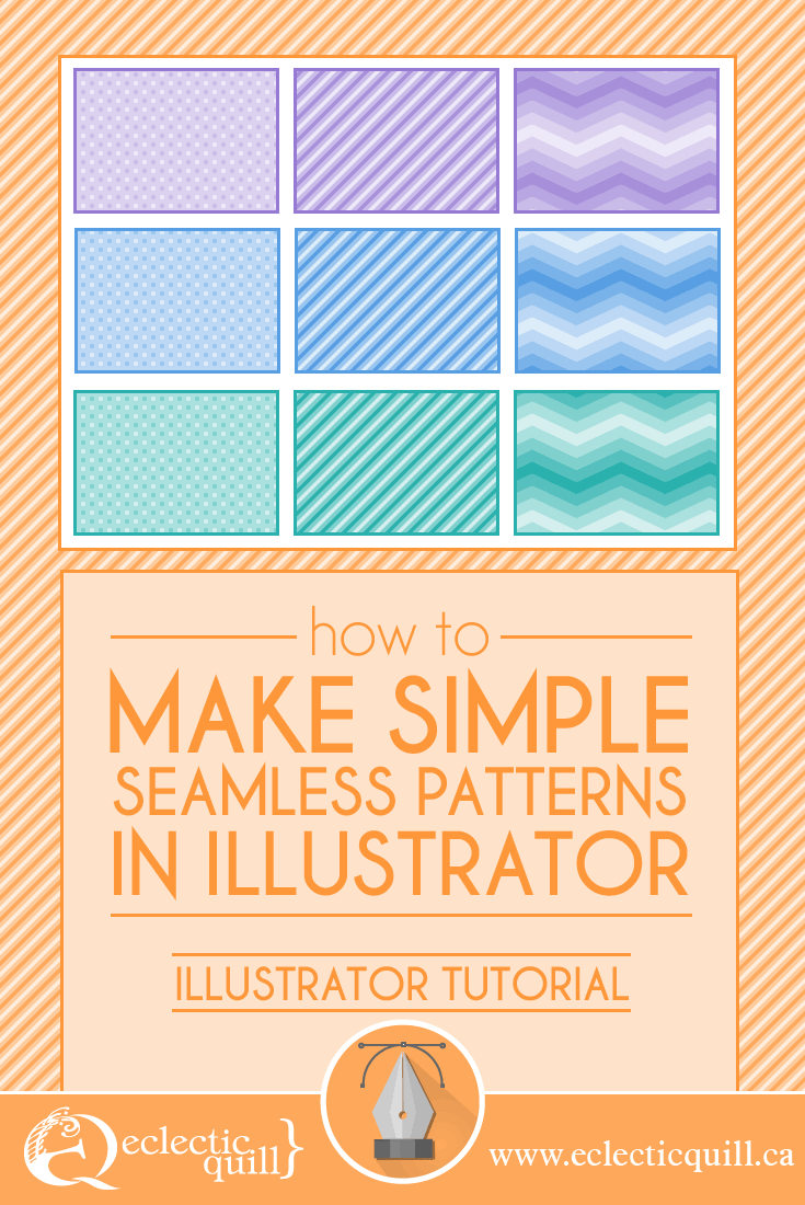 how to make simple seamless patterns in illustrator eclectic quill